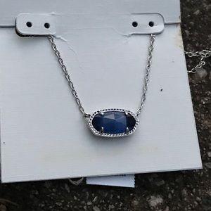 NWT Kendra Scott Elisa Navy Blue Pendant Necklace